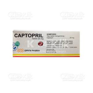 Apotek Online - CAPTOPRIL ERRITA 25MG TAB 100S