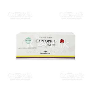Apotek Online - CAPTOPRIL KF 12.5MG TAB 100S