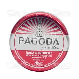 Apotek Online - PAGODA PERMEN STRAWBERI 20 G