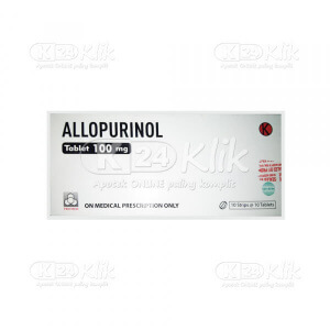 JUAL ALLOPURINOL PROMED 100MG TAB 100S