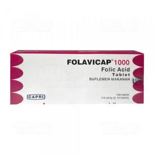 Apotek Online - FOLAVICAP 1000MCG TAB 100S