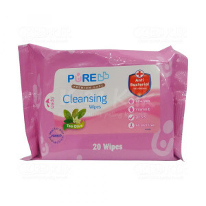 JUAL PUREBABY CLEANSING WIPES TEA OLIVE 20S