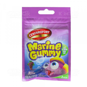 Apotek Online - CEREBROFORT MARINE GUMMY GRAPE SACH 5S