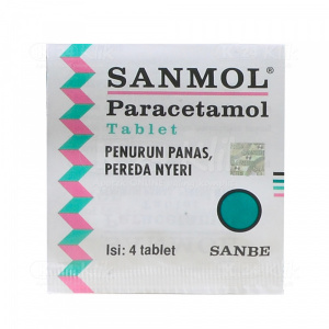 JUAL SANMOL 500MG TAB 4S STRIP 25S