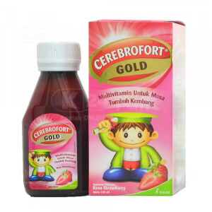 JUAL CEREBROFORT GOLD STRAWBERRY 100ML