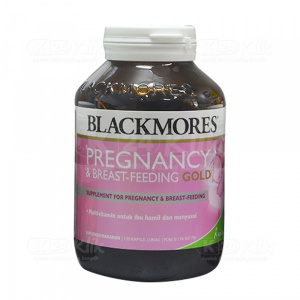 JUAL BLACKMORES PREGNANCY BREAST FEED GOLD SOFTCAP 120S