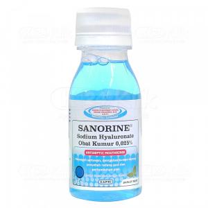 Apotek Online - SANORINE MOUTHWASH BIRU 0,25 % 80ML