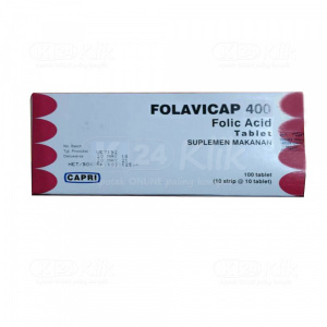 Apotek Online - FOLAVICAP 400MCG TAB 100S