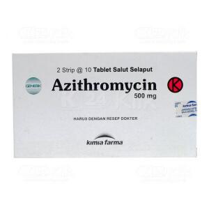 JUAL AZITHROMYCIN KF 500MG TAB 20S