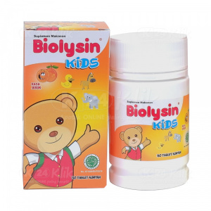 JUAL BIOLYSIN KIDS TAB JERUK 30'S