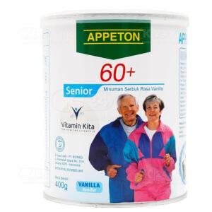 JUAL APPETON 60 PLUS VANILA 400G