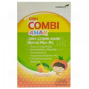 Apotek Online - OBH COMBI ANAK BATUK FLU RASA JERUK 60ML