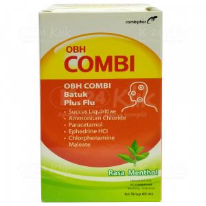 Apotek Online - OBH COMBI DEWASA BATUK FLU MINT 60ML