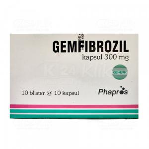 JUAL GEMFIBROZIL PHAPROS 300MG CAP 100S
