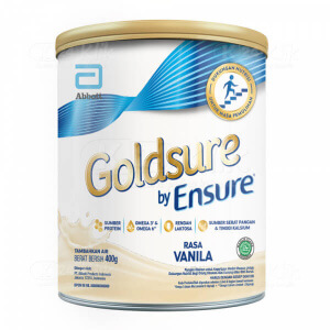 JUAL GOLDSURE BY ENSURE VANILA 400G KALENG