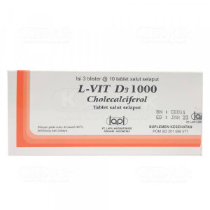 JUAL L VIT D3 1000IU FC TAB 30S