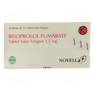 Apotek Online - BISOPROLOL FUMARATE NOVELL 2.5MG TAB 100S