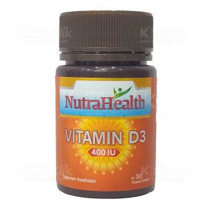 JUAL NUTRAHEALTH VITAMIN D3 400IU SOFTCAP 30S BTL