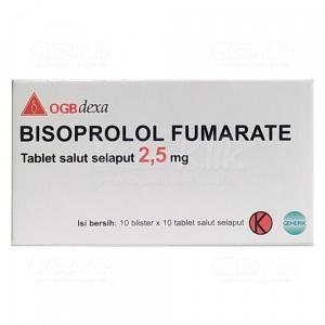 Apotek Online - BISOPROLOL FUMARATE DEXA 2.5MG TAB 100S