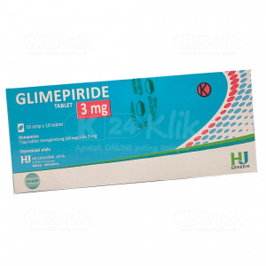 Apotek Online - GLIMEPIRIDE HEXPHARM 3MG TAB 100S